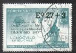 Sellos de America - Chile -  100 Aniversario de la Organización metereológica mundial