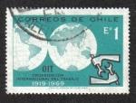 Sellos de America - Chile -  Globo y el emblema de la OIT / OIT