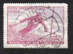 Stamps Chile -  Intl . Campeonatos de Esquí