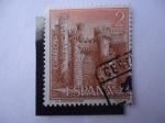 Stamps Spain -  Castillo de Ponferrada-León.