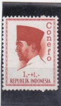 Stamps : Asia : Indonesia :  presidente Sukarno