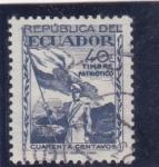 Sellos de America - Ecuador -  timbre patriótico