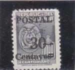 Stamps : America : Ecuador :  escudo