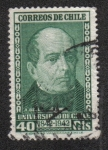 Stamps Chile -  Andres Bello (1781-1865)