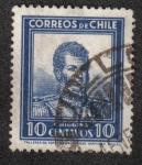 Stamps Chile -  Bernardo O'Higgins (1776-1842)
