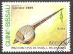 Stamps : Africa : Guinea_Bissau :  Kora, instrumento musical
