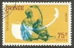 Stamps Guinea -  Músico indígena