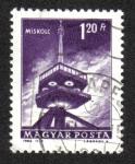 Stamps Hungary -  Torre de la televisión, Miskolc