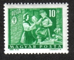 Stamps Hungary -  Chica Pionera y Mujer Cartero