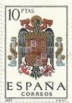 Stamps Spain -  ESCUDOS DE CAPITAL DE PROVINCIA. GRUPO V. Nº 57. ESCUDO ESPAÑA. EDIFIL 1704