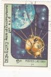 Stamps Laos -  satélite