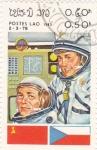 Stamps Laos -  aeronáutica- astronautas
