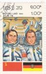 Sellos de Asia - Laos -  aeronáutica- astronautas