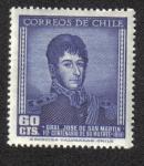 Stamps Chile -  José Francisco de San Martin (1778-1850)
