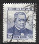 Sellos de America - Chile -  Manuel Montt (1809-1880)