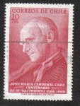 Stamps Chile -  Cardenal Jose Maria Caro