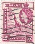 Sellos de Africa - Uganda -  jirafa
