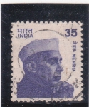 Stamps India -  Nehru- político