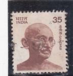 Stamps : Asia : India :  Gandhi- político