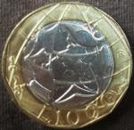 monedas del Mundo : Europa : Italia :  1998 (Reverso)