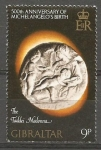 Stamps Gibraltar -  ESCULTURA  DE  MIGUEL  ANGEL.  TADDEI  MADONA.