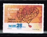 Stamps of the world : Spain :  Edifil  4933  Ciencia.  Trabajando juntos por la vida.