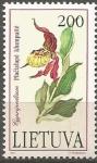 Stamps Lithuania -  FLORES.  CYPRIPEDIUM.