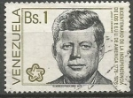 Sellos de America - Venezuela -  BICENTENARIO  DE  LA  INDEPENDENCIA  DE  LOS  ESTADOS  UNIDOS  DE  NORTE  AMÈRICA.  J. F. KENNEDY.