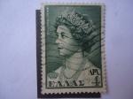 Stamps Greece -  Reina Federica