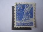 Sellos de Asia - Indonesia -  Serie Ordinaria-Indonesia 1953.