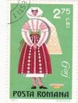 Stamps Romania -  traje típico de GORJ