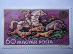 Stamps Hungary -  Caza de Jabalí - Magyar Posta.