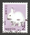 Stamps : Asia : Japan :  Conejo