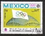 Sellos del Mundo : Asia : Yemen : Juegos Olímpicos de Verano , México 1968