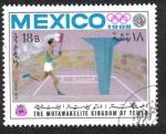 Sellos de Asia - Yemen -  Juegos Olímpicos de Verano , México 1968