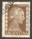 Stamps Argentina -  524 - María Eva Duarte de Perón, Evita Perón