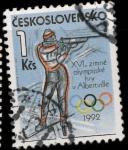 Stamps Czechoslovakia -  2909 - Olimpiadas de invierno en Albertville