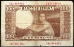 monedas del Mundo : Europa : España :  Reverso billete de 100 pesetas.