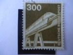 Sellos de Europa - Alemania -  Alemania DDR. Magnetbahn.