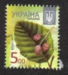 Sellos del Mundo : Europa : Ucrania : Alnus incana - Alder