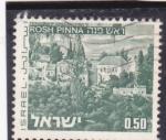 Stamps Israel -  panorámica de Rosh Pinna