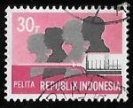 Sellos de Asia - Indonesia -  Indonesia-cambio