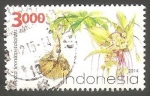 Stamps Indonesia -  Planta tacca leontopetaloides