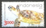 Stamps Indonesia -  Tortuga