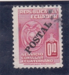 Sellos del Mundo : America : Ecuador : servicio consular ecuatoriano