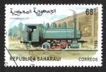 Stamps Morocco -  Locomotoras