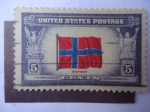 Stamps United States -  Flag of Norway - Bandera de Noruega.