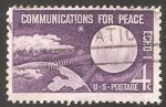 Stamps United States -  708 - Satélite Echo I y la Tierra