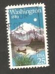 Sellos de America - Estados Unidos -  1853 - Centº del Estado de Washington, Monte Rainier y lago Mirror