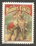 Sellos de America - Estados Unidos -  Cartel de Circo, El Circo, elefante
